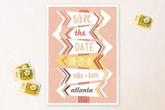 Arrows Save the Date Cards - minted