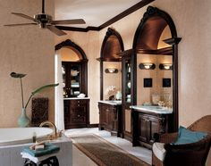 For over 60 years, Wood-Mode has been widely recognized for excellence in cabinet design, material selection, construction and finishes. Hand crafted by their dedicated craftspeople, using o. Custom Kitchen Cabinets, Kitchen Cabinets In Bathroom, Kitchen Cabinet Design, Custom Cabinetry, Kitchen And Bath, Bath Cabinets, Wood Mode, West Indies Style, His And Hers Sinks