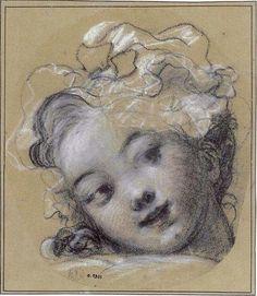 FRAGONARD Jean-Honoré (1732-1806) - a girl