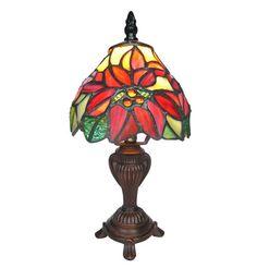 Poinsettia Memory Lamp - Tiffany Style