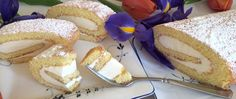 Lemon Cake Roll Recipe made with a sponge cake and filled with a lemon cream. Easy to prepare following Oma's step by step instructions.