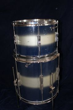 Ludwig Club Date Duco 1950s Blue / Silver 3 piece kit | Reverb