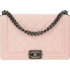 Pre-owned Chanel Pink Lambskin Leather New Medium Boy Bag ($4,600) ❤ liked on Polyvore featuring bags, handbags, chanel, purses, pink hand bags, man bag, crossbody hand bags, chanel handbags and pre owned handbags
