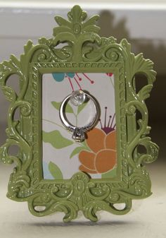 Picture Frame Ring holder by CreatedbyBabs on Etsy, $7.00
