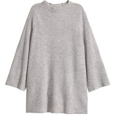 H&M Cashmere Sweater $89.99 ($90) ❤ liked on Polyvore featuring tops, sweaters, mock turtleneck, mock turtleneck sweater, gray sweaters, grey cashmere sweater and gray cashmere sweater