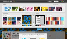 {Twitter Profile Designer}  Themeleon helps you to create custom Twitter background. You can use lots of patterns and colors available there or you can customize any of the colors or patterns to get just the right design for you.