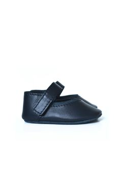 Navy leather mary janes for little girls by MiniMo.