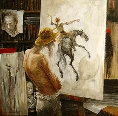 Man Of La Mancha, Dom Quixote, Art Et Illustration, Monet, Edgar Degas, Z Arts, Human Art, Art Moderne, Drawing Skills