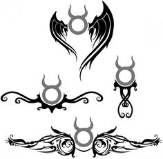 Most people think lower back tattoos are trashy. And they can be. But I really like the bottom two for a lower back tattoo. Except I would change the symbol to the Gemini sign or something else.