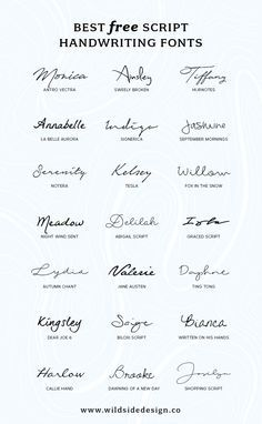 To save you time and effort, I've put together a list of my favorite script handwriting fonts that are completely free. Pretty, casual and authentic… The post Best Free Script Handwriting Fonts appeared first on Garden ideas. Mini Tattoos, New Tattoos, Body Art Tattoos, Tatoos, Forearm Tattoos, Finger Tattoos, Kid Name Tattoos, Tattoo Kids Names, Tattoos For Children