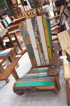 Ordinaire Recycled Teak Boat Wood Adirondack Chair. BaliImported.com $149
