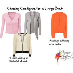 """Choosing Cardigans for Large Busts"" by imogenl on Polyvore"