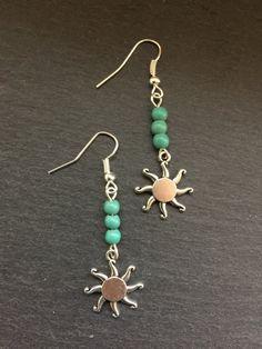 Sol anillos de turquesa joyas de turquesa pendientes Boho