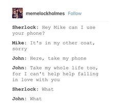 what<<<I can dig Elvis Watson Sherlock, Sherlock Holmes, My Whole Life, John Watson, Past Life, Johnlock, Superwholock, Falling In Love, I Can