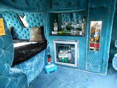 Custom Van Interior, Motorhome Interior, Camper Interior, Kombi Home, Dodge Van, Old School Vans, Vanz, Panel Truck, Cool Vans