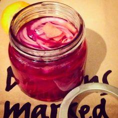 Mine matskriblerier: Syltet rødløk med bringebær