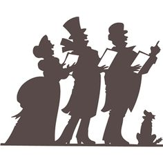 Carolers silhouette