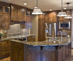 Knotty Alder Kitchen - Like the color