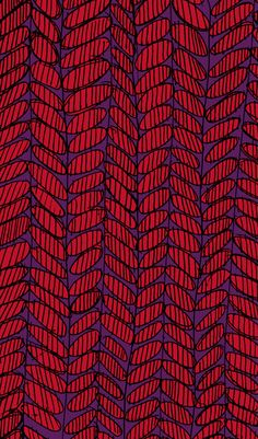 two of my favorite colors together: red & purple - pattern by Sarah Bagshaw