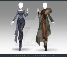 (CLOSED) Adoptable Outfit Auction 212 - 213 by Risoluce on DeviantArt