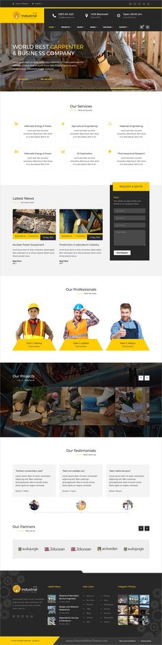 Industrial Hub is a modern, unique and clean 4in1 responsive HTML5 #Bootstrap template for #carpenter #service,  Factory, Industrial, Construction company websites download now➩ https://themeforest.net/item/industrial-hub-factory-industrial-construction-html-template/19319892?ref=Datasata