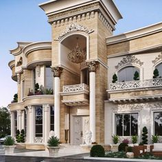 Luxury Homes Mansions & High End Real Estate für . Classic House Exterior, Classic House Design, House Outside Design, House Front Design, Luxury Homes Dream Houses, Luxury Homes Interior, Old Style House, Modern Villa Design, Deco Design
