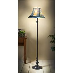 J Devlin Floor Lamp 563-3, Tiffany Styled Stained Glass Floor Lamps
