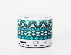 Aztec Tribal Green Wireless Bluetooth Mini Speaker