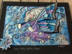 winter fairy free pattern metal embossing tutorial - made from disposable aluminum cookie sheets Metal Embossing, Green Craft, Winter Fairy, Arts And Crafts, Paper Crafts, Diy Craft Projects, Craft Ideas, Homemade Gifts, Metal Wall Art