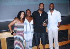 HBO,Jerry LaMothe (winner of the HBO short award ) and the founders at the awards presentation of the 10th #MVAAFF