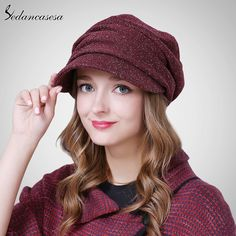 Female Hats Keep Warm Winter Autumn Hats Fold Beret Hat Korean Style Fashion Ladies Commuter Christmas WG160069