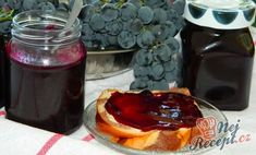 grape jam (in slovak) Hroznový džem Grape Jam, Preserving Food, Homemade Gifts, Preserves, Waffles, Sweet Tooth, French Toast, Cheesecake, Pudding