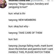 ❗️THESE AREN'T MY MEMES❗️ Welcome to this crackhead fandom called Nct-zen;) Here are some good memes u can find and crack a small laugh. Nct 127, Steven Universe, Nct Life, Funny Kpop Memes, Nct Taeyong, Na Jaemin, Winwin, Kpop Groups, Jaehyun