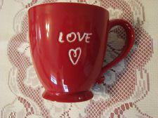 "Starbucks ""Love"" Coffee Mug Cup 2006 Heart Red Mug"