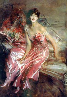 1916.Lady in Rose.Boldini Giovanni.(1842-1931)