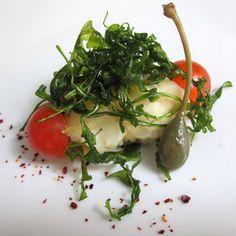 Ricetta per la realizzazione di una rana pescatrice fritta ai profumi del mediterraneo.