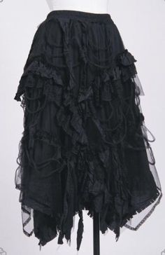 Long Black Lolita Goth Skirt Regular or Plus Size - CorsetChick