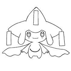 Coloriage Pokemon Jirachi