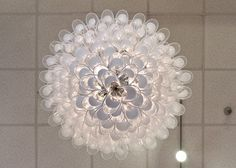 murano crystal glass | Murano Crystal & Opaline Glass Chandelier by Mazzega image 4