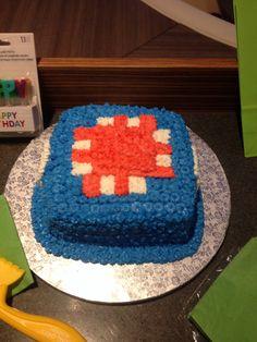 Minecraft party cake-squid