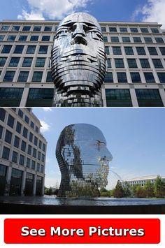 Charlotte Usa, More Pictures, United States, Clouds, Sculpture, Travel, Viajes, Sculptures, Destinations