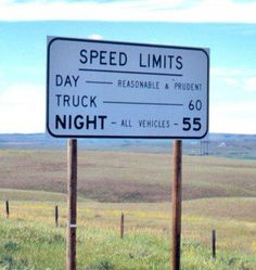 Ahh, the good old days - unlimited speed limit in Montana - reasonable & prudent meant put the pedal to the metal!