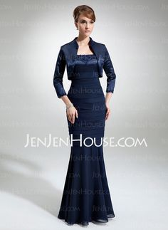 Mother of the Bride Dresses - $162.49 - Sheath Scoop Neck Floor-Length Chiffon  Charmeuse Mother of the Bride Dresses With Beading (008006188) http://jenjenhouse.com/Sheath-Scoop-Neck-Floor-length-Chiffon-Charmeuse-Mother-Of-The-Bride-Dresses-With-Beading-008006188-g6188