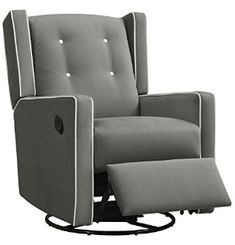 Baby Relax Mikayla Swivel Gliding Recliner, Gray Microfiber - Great quality, just buy it.This Baby Relax that is ranked 6961 in the top most popular items in Am