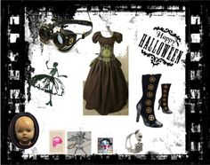 """""""Doll-o-ween"""" by odecc ❤ liked on Polyvore"""