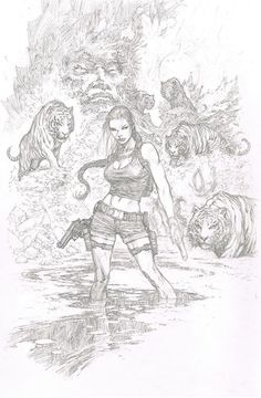 Tomb Raider - Lara Croft by Marc Silvestri *