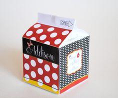 Caja del Favor de cartón de leche DIGITAL por LisaKaydesigns