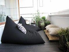 gartenmobel sitzsack pflanzen balkon gestalten ideen