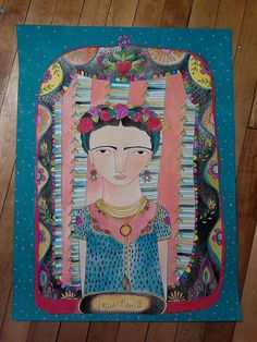 18x24 Frida done by Laurie Jean Kramer