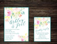 Floral Watercolor, Watercolour, Printable Wedding Invitations, Papers Co, Paper Texture, Letterpress, Rsvp
